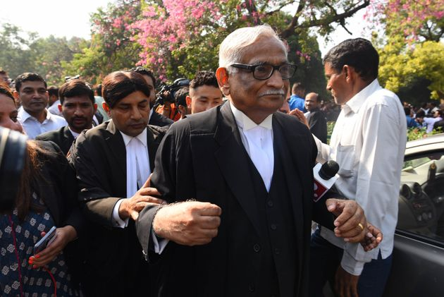 Rajeev Dhavan at the Supreme Court in New