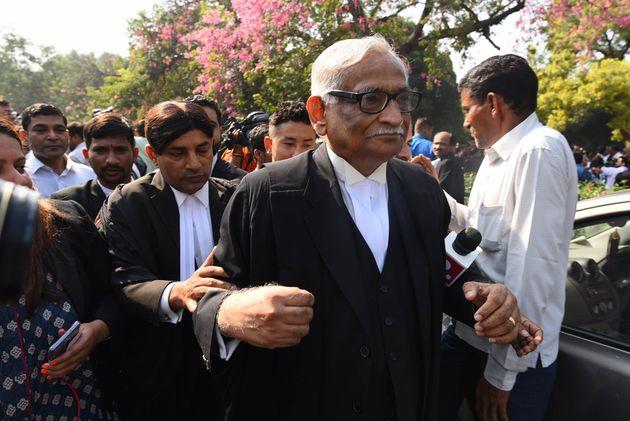 Rajeev Dhavan at the Supreme Court in New