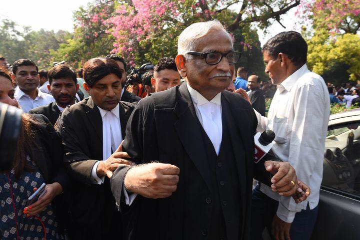 Rajeev Dhavan at the Supreme Court in New Delhi.