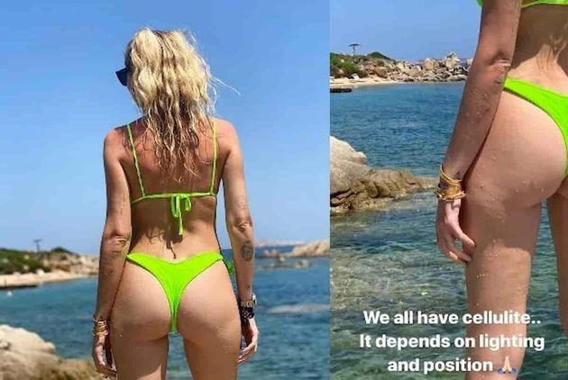 Chiara Ferragni posta uno scatto del lato B e mostra la cellulite: