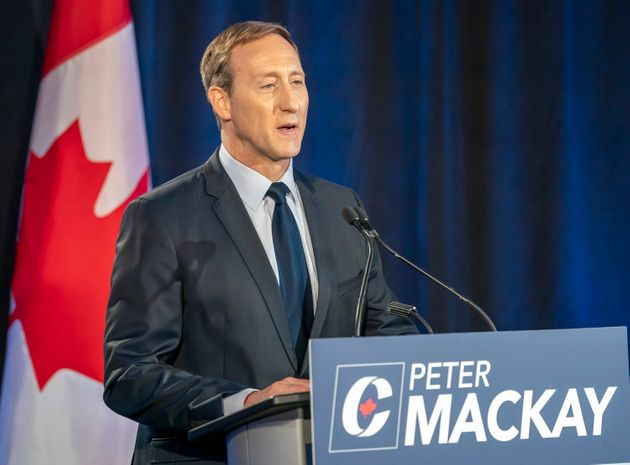 Conservative leadership hopeful Peter MacKay speaks during a French debate in Toronto on June 17,