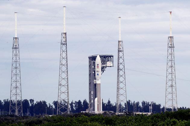 A United Launch Alliance Atlas V rocket that carried the rover is seen at the Cape Canaveral Air Force...
