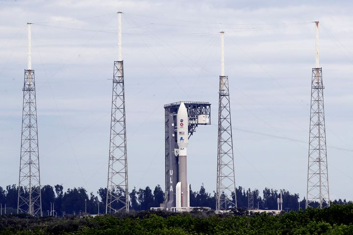 A United Launch Alliance Atlas V rocket that carried the rover is seen at the Cape Canaveral Air Force Station on Tuesday.
