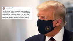 Donald Trump évoque un possible report de la présidentielle par crainte de