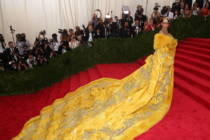 "Rihanna attends ""China: Through the Looking Glass"", the 2015 Costume Institute Gala, at Metropolitan Museum of Art in New Yor"