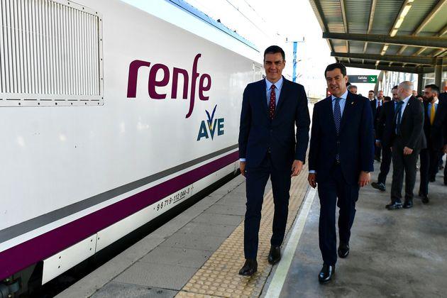El presidente del Gobierno, Pedro Sánchez, inaugura la línea de alta velocidad Madrid-Antequera-Granada,...