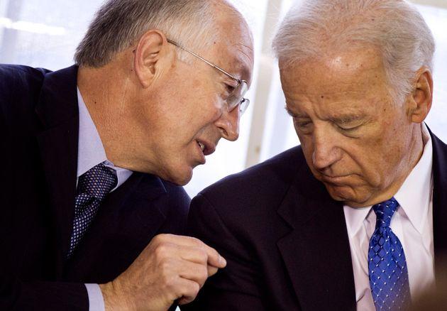 Secretary of the Interior Kenneth Salazar and Vice President Joseph Biden in April