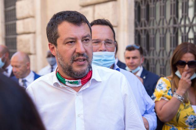 Ancien ministre de l'Intérieur en Italie, Matteo Salvini devrait être jugé pour avoir...