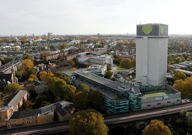 The Grenfell Tower in London pictured in October of last year.