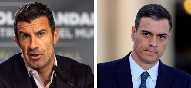Luis Figo y Pedro