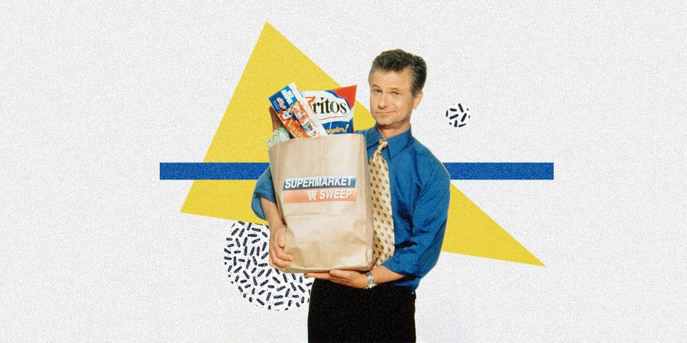 """David Ruprecht began hosting """"Supermarket Sweep"""" in 1990."""