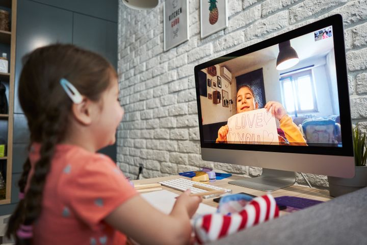 Even virtual playdates are beneficial to kids' wellbeing.&nbsp