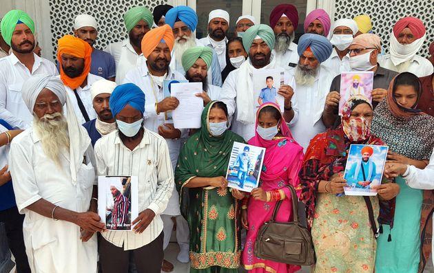 Akal Takht Jathedar Giani Harpreet Singh, Punjabi Ekta Party (PEP) president Sukhpal Singh Khaira and...