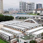 新型コロナ感染者受け入れを想定した仮設住宅140戸、お台場に完成する
