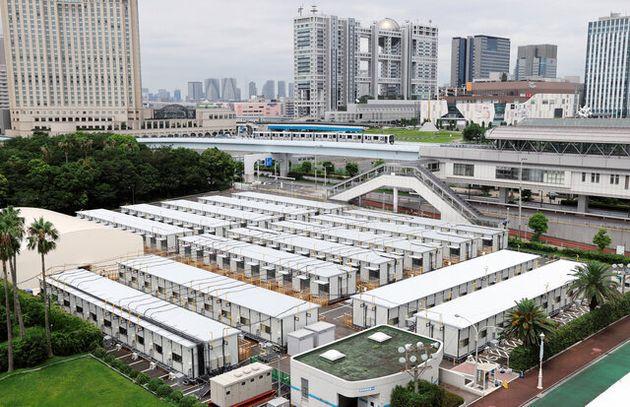 完成した「災害危機サポートセンター」=2020年7月30日午後、東京都品川区東八潮、嶋田達也撮影