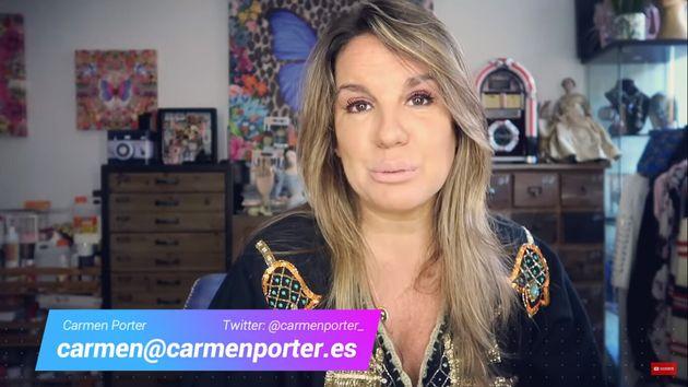 La periodista Carmen Porter en su canal de Youtube, 'Con C de