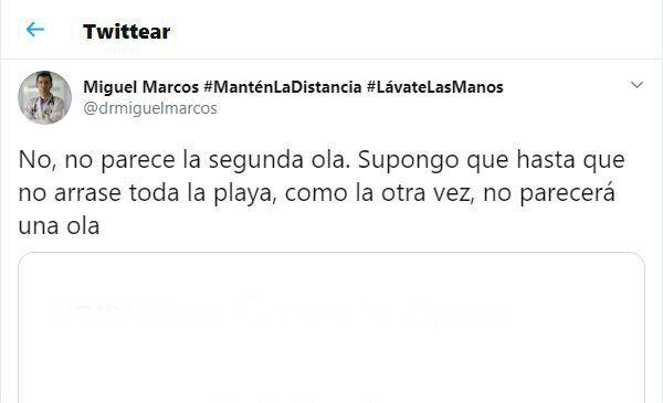 El tuit del médico Miguel