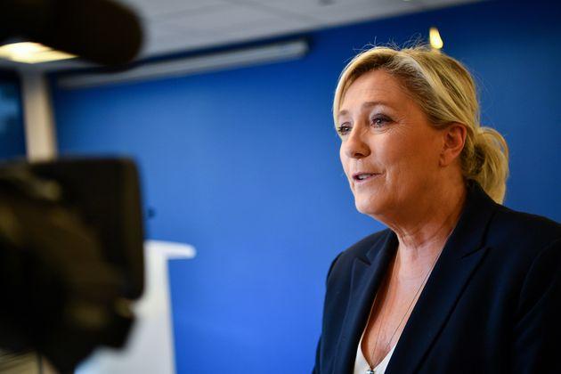 Marine Le Pen à l'Assemblée nationale le 28