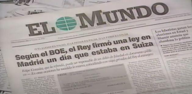 Noticia de El Mundo sobre los viajes del rey Juan Carlos I a