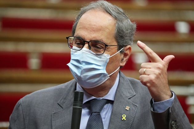 Quim Torra ,en el Parlament el 22 de julio de 2020 (Joan Valls/Urbanandsport/NurPhoto via Getty