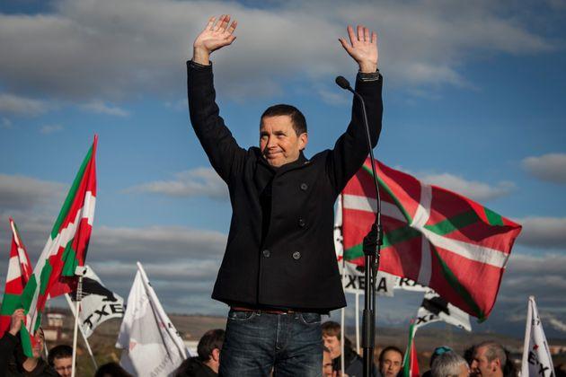 Arnaldo Otegi sale de la cárcel de Logroño en marzo de