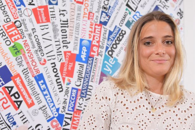 Giorgia Linardi, legal adviser in Italy for German hunmanitarian NGO Sea-Watch, attends a joint press...