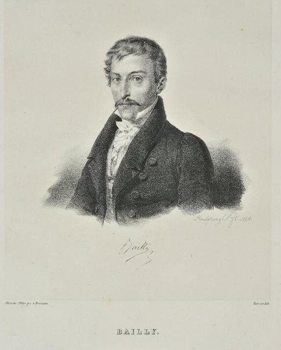 Étienne-Marin Bailly, λιθογραφία 19ου αιώνος από το έργο του Krazeisen Karl (1794 - 1878), συλλογή ΕΕΦ