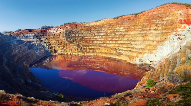 Corta Atalaya was an opencast, mainly copper, which was once cast mining largest in Europe open, Huelva, Andalusia, Spain