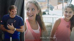 Giocavano a tennis dai tetti durante il lockdown: Federer le sfida a sorpresa