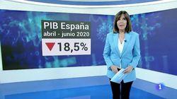 Críticas al Telediario de TVE por el gráfico usado para hablar de la caída del