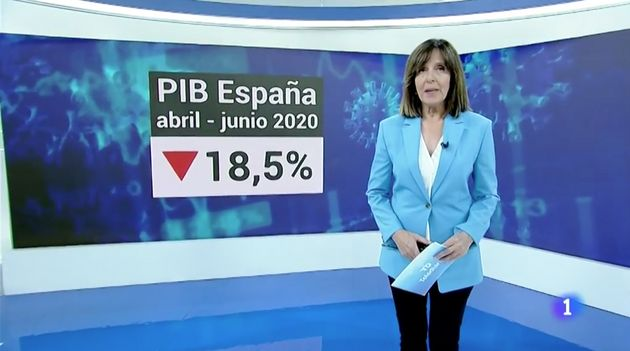 Ana Blanco, presentadora del 'Telediario' de