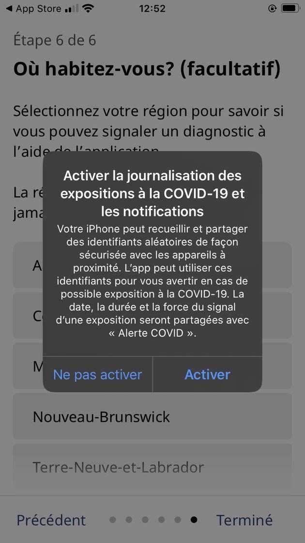 «Alerte COVID»: à quoi ressemble l'application de suivi des contacts du gouvernement du