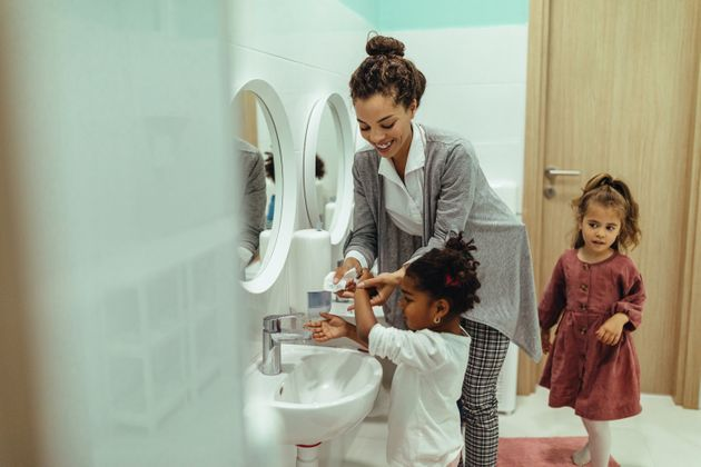 Kids should feel comfortable with hygiene standards like hand-washing before going back to school.