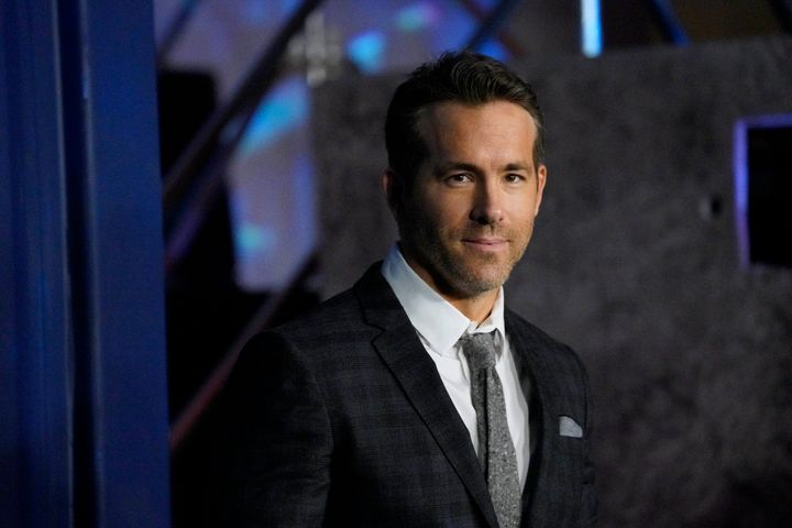"Ryan Reynolds at the premiere of ""6 Underground"" in New York City in 2019."