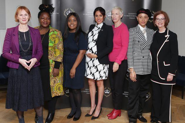 Journalist Anne McElvoy, Camfed Regional Director Zimbabwe's Angeline Murimirwa, British campaigner Chrisann...