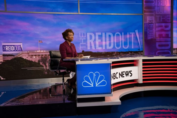 "Anchor Joy Reid on the premiere of ""The ReidOut"" at NBC News headquarters in 30 Rock on July 20."
