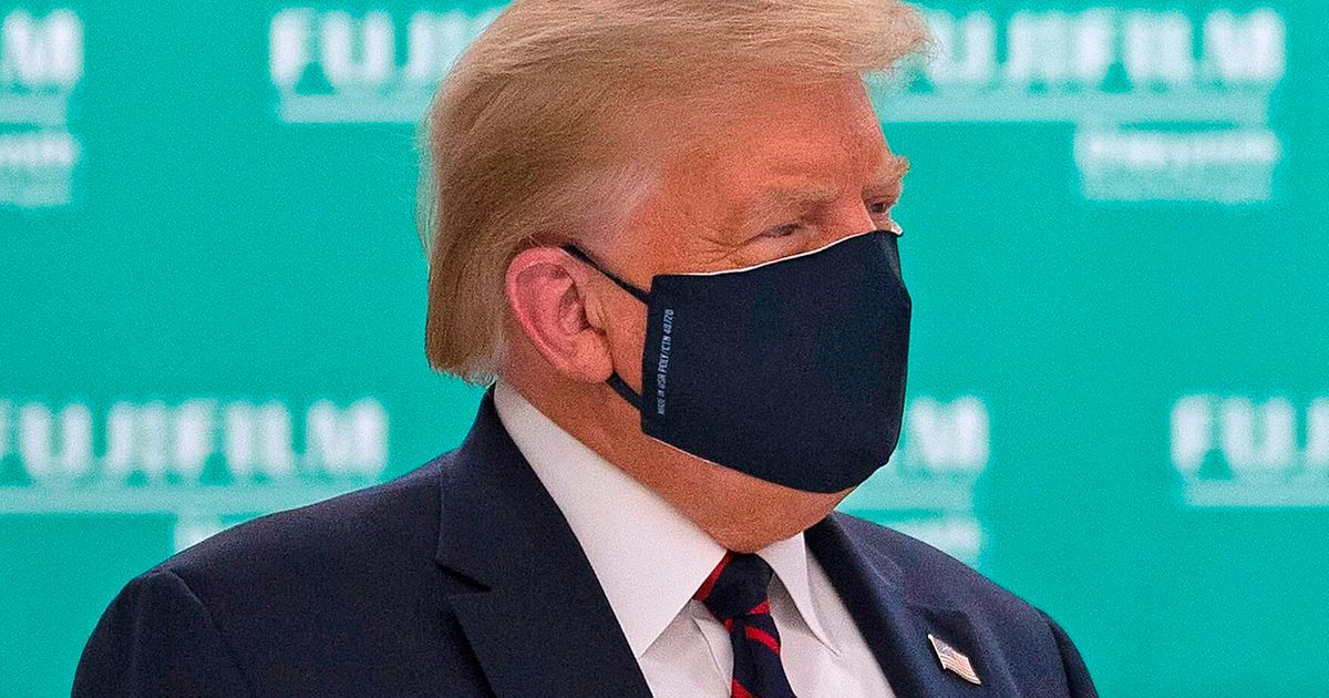 'The Daily Show' Reveals What Donald Trump Says Behind His Coronavirus Face Mask