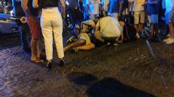 Carabiniere fuori servizio tenta di sedare una lite: pestato con caschi e sedie. È