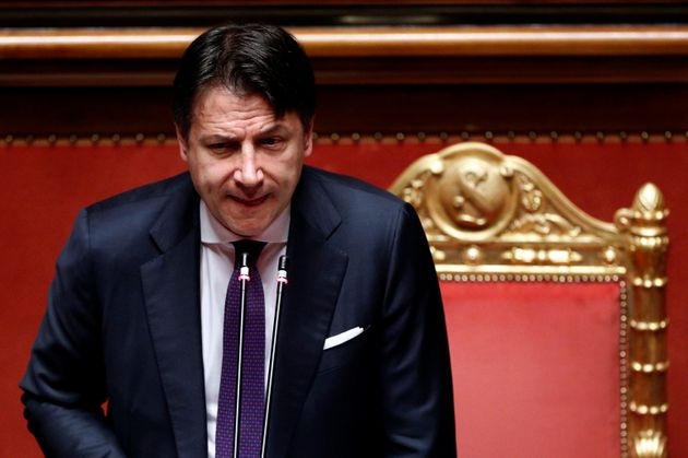 Italy's Prime Minister Giuseppe Conte addresses the upper house of parliament following the EU summit...