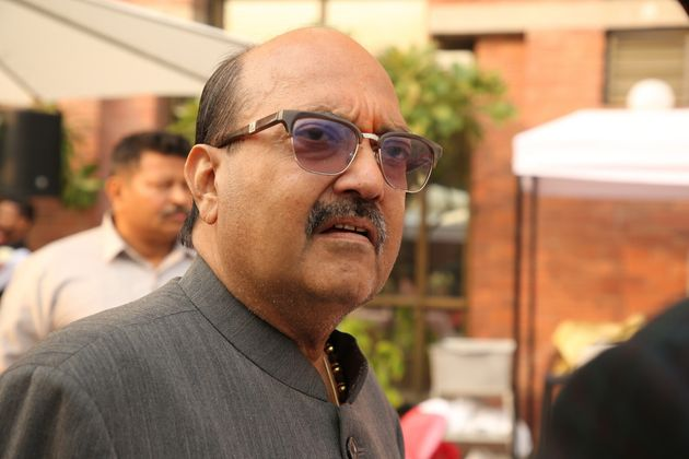 Rajya Sabha MP Amar Singh during the pre-Christmas lunch party hosted by Image Guru Dilip Cherian and...