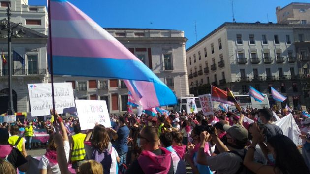 Una movilización a favor del colectivo transexual en