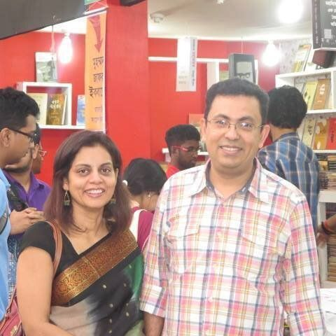 Avijit Roy (right), who was hacked to death by assailants in Dhaka for his rationalist
