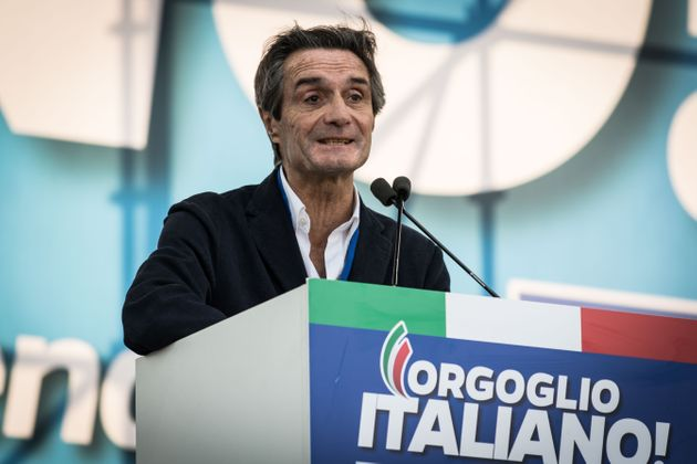 Attilio Fontana President Region Lombardita during the Thousands of protesters are gathering in Rome...