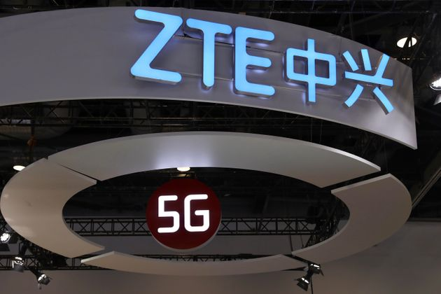 BEIJING, CHINA - OCTOBER 31: A 5G sign is seen at ZTE booth on the opening day of PT Expo China 2019...