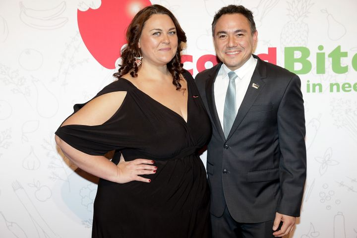 Chrissie Swan and Sam Pang pictured in 2017
