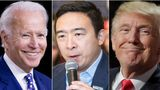 Joe Biden, Andrew Yang, Donald Trump