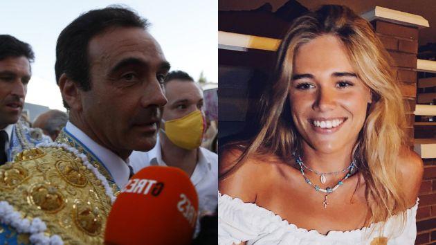 Enrique Ponce a la salida de la plaza de toros y su novia Ana Soria.