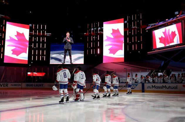 L'hymne national canadien était interprété par Michael Buble, samedi