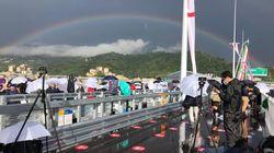 Ponte di Genova, l'inaugurazione comincia con un