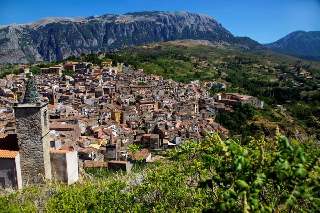View Of The Small Village Of Isnello In The Madonie Mountains, Sicily, Italy. (Photo by: marka/Universal...